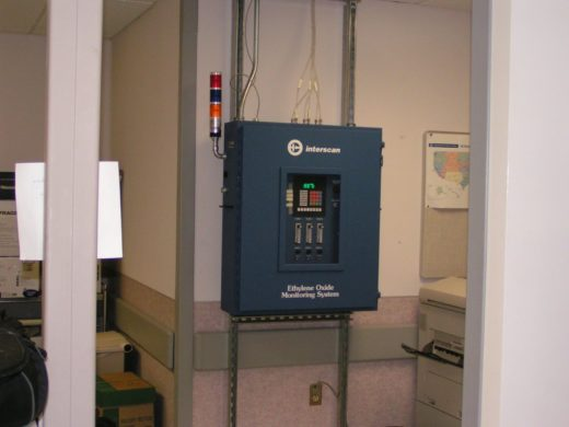3-point EtO monitoring system at VA Hospital, Newington, CT
