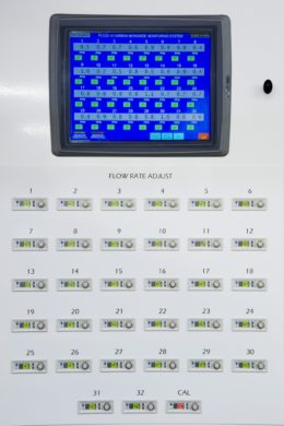32-point CO monitoring system:  Inner panel
