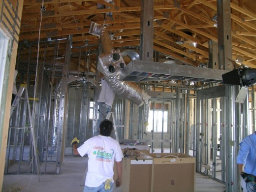 All ducting is removed in a treatment, along with the electrical wiring and insulation