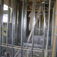 Before treating a house, all the drywall must be removed