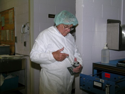 Bob Jacobson working on a venerable EtO system at National Naval Medical Center