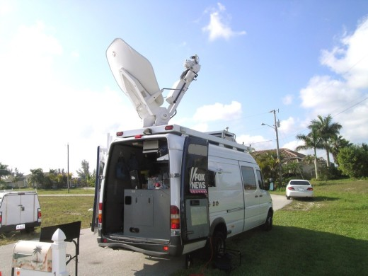 Fox News at Cardiello house in Cape Coral, FL
