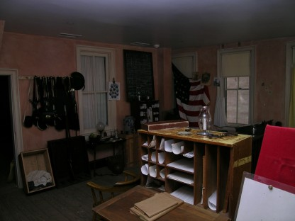 Inside the Provost Marshal's office, historic Harpers Ferry, WV