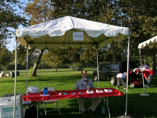 Interscan booth at American Diabetes Association Walk for Diabetes