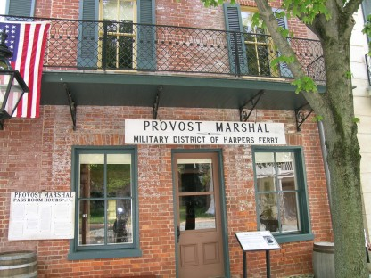 On the High Street in historic Harpers Ferry, WV