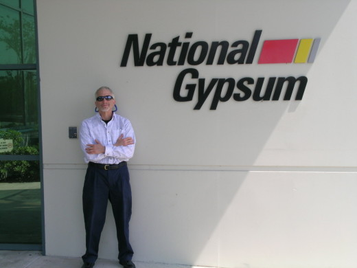 Our Michael Shaw, at a site visit to National Gypsum in Apollo Beach, FL