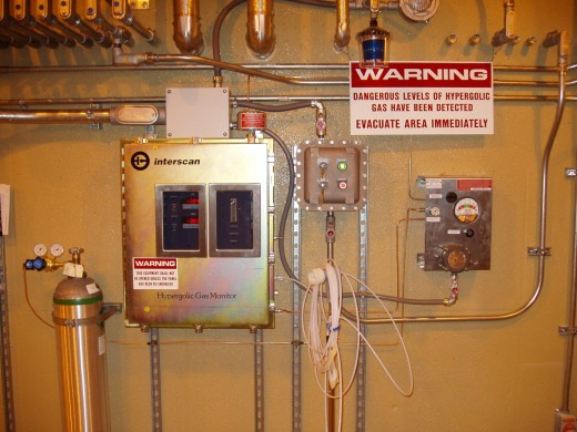 Specialized Hydrazine and N2O4 monitoring system at Ft. Greely, Alaska