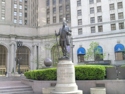 Statue of General Moses Cleaveland, founder of Cleveland, OH