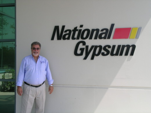 Tainted drywall guru Michael Foreman, at a site visit to National Gypsum in Apollo Beach, FL