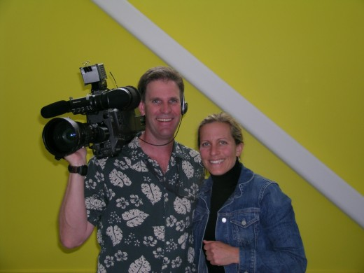 Tech Live host Becky Worley with ace videographer Mark Neuling