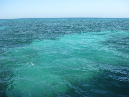 Water off Dry Tortugas