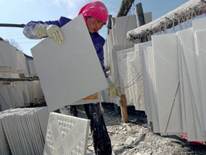 Drywall being made in China