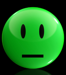 Green face--not happy