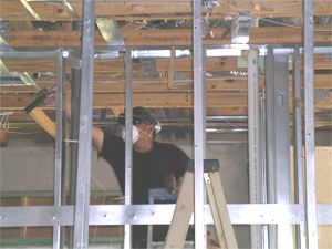 Working on a Chinese drywall house